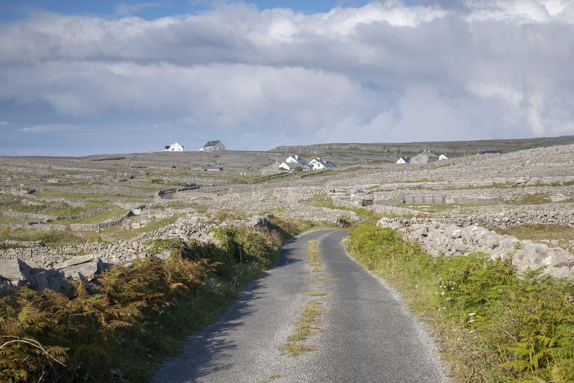 Open Road on Inishmore, Aran Islands, Ireland